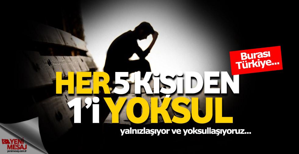 Türkiye'de her 5 kişiden 1'i yoksul