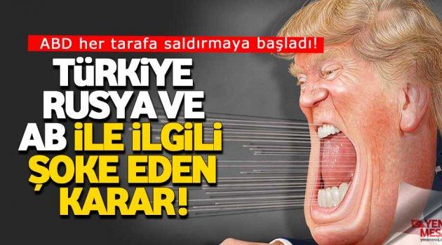 Türkiye'ye baskı, Rusya'ya yaptırım, AB'ye ek vergi