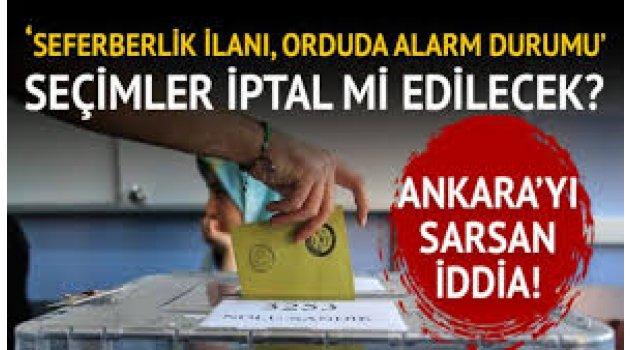 Türkiye'yi sarsacak iddia: Seçim iptal olabilir