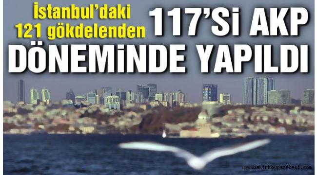 İstanbul'daki 121 gökdelenin 117'si AKP döneminde yapıldı