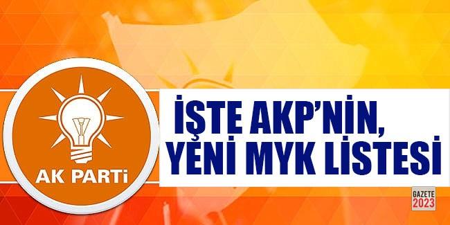 İşte AKP'nin yeni MYK'sı
