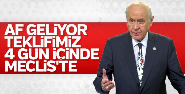 MHP'nin af teklifi 24 Eylül'de Meclis'e sunulacak