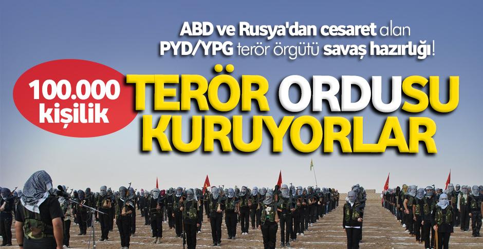 PYD-YPG'den 100 bin kişilik ordu hazırlığı!