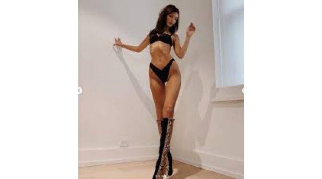 Ünlü Model Bella Hadid'den, Siyah İç Çamaşırlı Paylaşım!