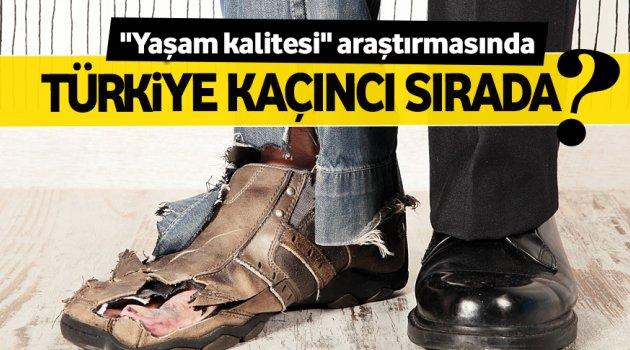 Yaşam kalitesinde Türkiye 61. sırada