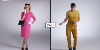 Erkek ve kadının 100 yıllık giyim stilinin değişimi
